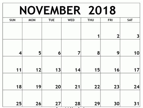 monthly calendar template 2018 november 2018 monthly calendar template business calendar templates
