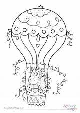 Colouring Catamaran Balloon Coloring Activityvillage sketch template
