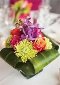 Tropical Flower Wedding Centerpieces