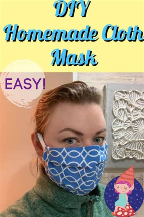 diy fabric face mask crafty  gnome