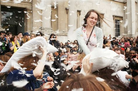 international pillow fight day national awareness days