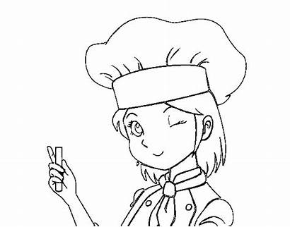 Chef Coloring Pages Coloringcrew Printable Cooks Kid
