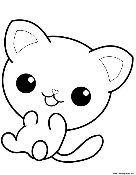 kawaii kitty cat coloring pages printable