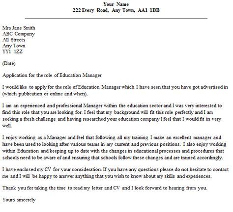 education cover letter director cover letter exles