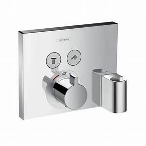 Unterputz Thermostat Dusche : hansgrohe showerselect thermostat unterputz f r 2 verbraucher mit fixfit und portereinheit ~ Frokenaadalensverden.com Haus und Dekorationen