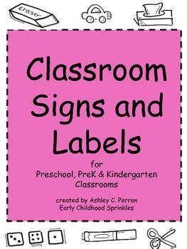 classroom label preschool prek kindergarten