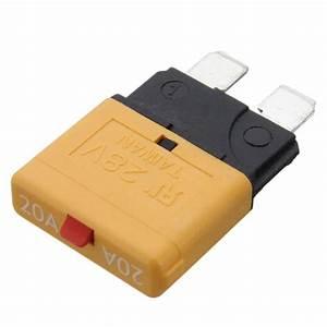 20 Amp Ato Blade Type Circuit Breaker Fuse Manual Reset 12