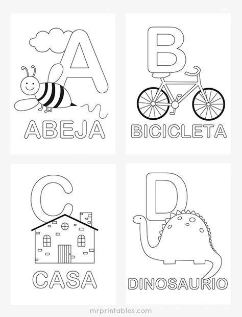 httpsmrprintablescomspanish alphabet coloring pages