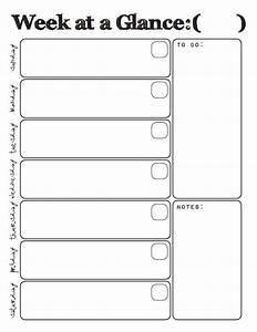 calendar week at a glance template templates resume With week at a glance lesson plan template