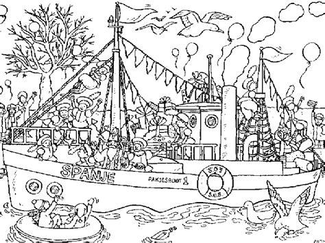 Kleurplaat Sinterklaas Grappig by Kleurplaat Sinterklaas Kleurplaat Sinterklaas Stoomboot