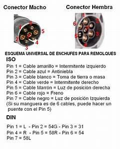Conector Remolque Macho 7 Pin