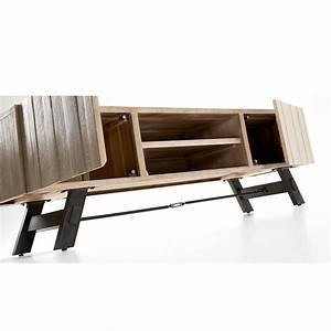 Tv Möbel Metall : tv m bel aus holz und metall in modernem design easy ~ Whattoseeinmadrid.com Haus und Dekorationen