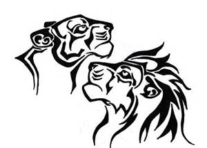 Lion Tribal Tattoo Design