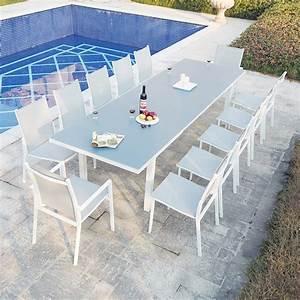 Table De Jardin Extensible Aluminium : ensemble table de jardin extensible en aluminium moniga 12 concept usine ~ Melissatoandfro.com Idées de Décoration