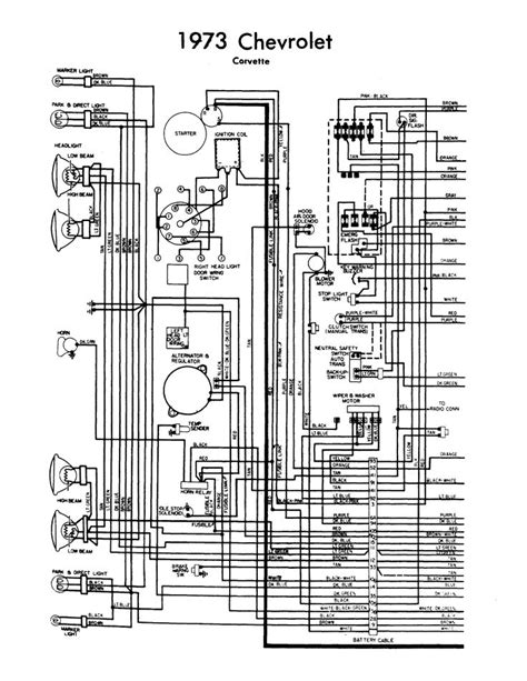 1964 Gm Engine Wiring Harnes Diagram by Wiring Diagram 1973 Corvette Chevy Corvette 1973 Wiring