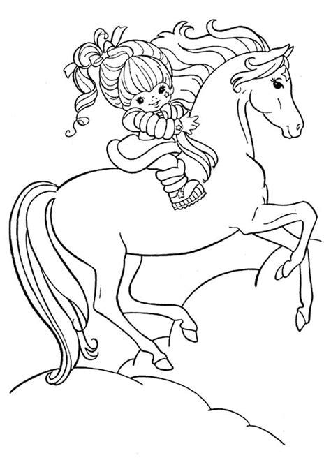 jeux de cuisine aux fraises coloriage cheval fille sur hugolescargot com