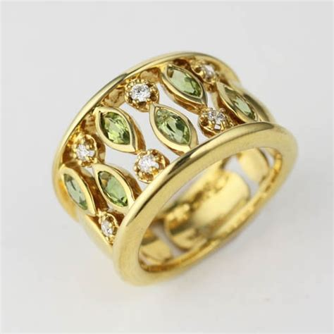 wide style gemstone ring adorn jewels wedding engagement eternity rings online jewellery