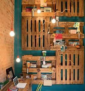 Palette En Bois Pas Cher : etag re idee bricolage fabriquer etagere en palette ~ Dallasstarsshop.com Idées de Décoration