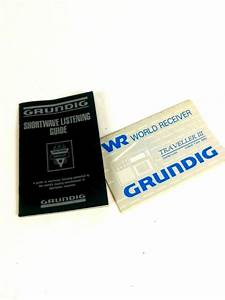 Vintage Grundig Traveller 3 User Manual  Shortwave