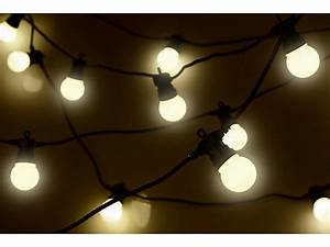 Lichtschläuche Lichterketten : lunartec gl hbirnenlichterkette party lichterkette 20 wei e leds in gl hbirnenform 8 w 13 m ~ Eleganceandgraceweddings.com Haus und Dekorationen