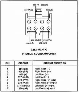 1997 F150  Radio Serial  Amp And What Are The Color Codes