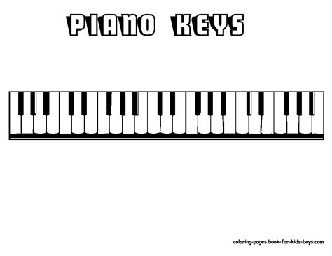 Mighty Piano Musical Instrument Coloring