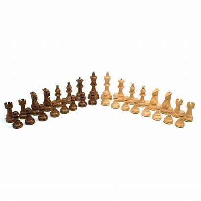English Staunton Chessmen Weighted Handpolished Wood King