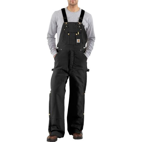 carhartt quilt lined zip  thigh bib  pant mens backcountrycom
