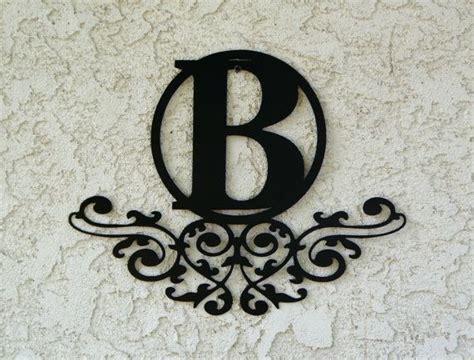 personalized family monogram metal sign custom  candgmetalart metal letter signs custom