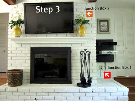 Hang Tv Above Brick Fireplace by How To Mount A Tv On A Brick Fireplace On Sutton Place