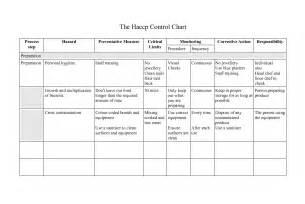 HACCP Flow Chart Template Printable