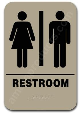 restroom sign unisex taupe  ep