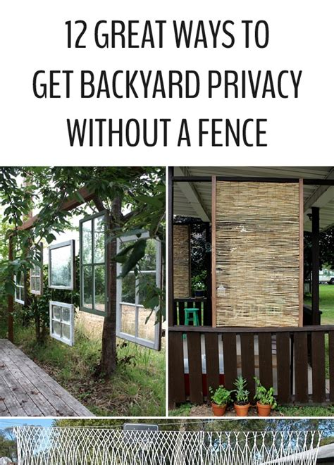 how to create privacy without a fence diy roundup tons of diy inspiration