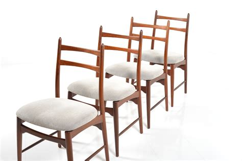 mid century teak dining chairs set of 4 for sale