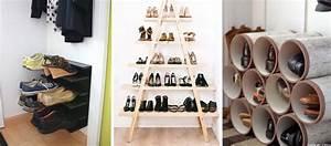 Palette En Bois Pas Cher : 18 tutoriels pour fabriquer un rangement pour chaussures ~ Dallasstarsshop.com Idées de Décoration