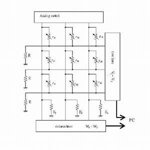 Pressure Sensor Circuit Diagram   Example 3x3 Matrix