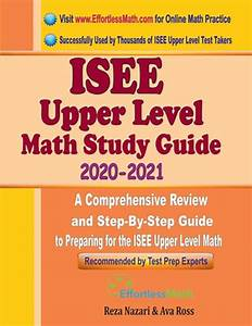 Isee Upper Level Math Study Guide 2020