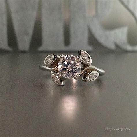 engagement rings flower design unique engagement ring white gold engagement