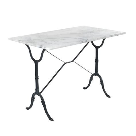 table cuisine marbre table rectangulaire avec plateau en marbre blanc noir