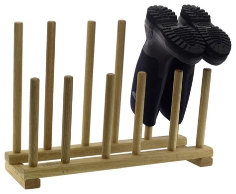 shoe boot rack oak boot and shoe rack eclectic shoe storage by pedlars