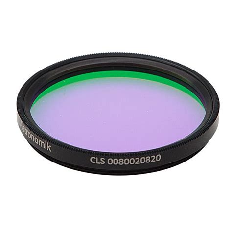 astronomik cls light pollution filter astronomik cls light pollution filter 2 quot round mounted opt