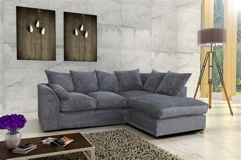 Cheap Corner Settee by Porto Jumbo Cord Corner Sofa Settee Chenille Cord