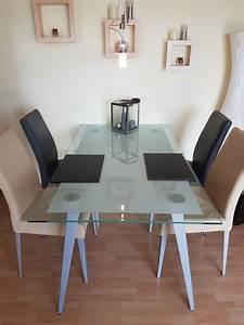 Esstisch Mit Metallbeinen : glas esszimmertisch neu und gebraucht kaufen bei ~ Whattoseeinmadrid.com Haus und Dekorationen