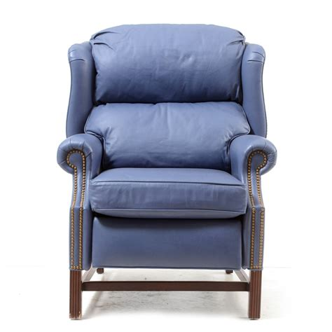 Thomasville Leather Recliners by Thomasville Wing Back Leather Recliner Ebth
