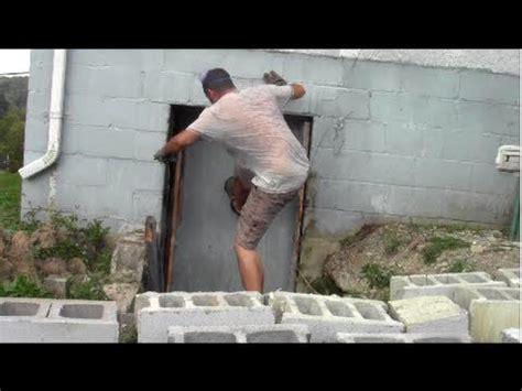 remove wood door install block wall youtube