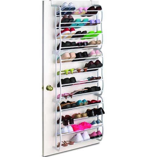 door shoe holder the door shoe rack 36 pair white in the door
