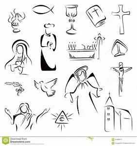 15 Icon Catholic Religious Symbols Images - Catholic ...