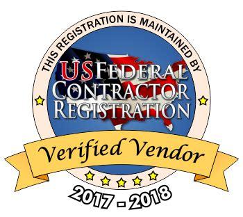 vendor seal information us federal contractor registration inc