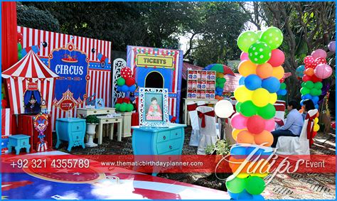 circus themed birthday party ideas supplies  planner