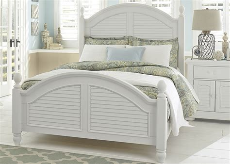 summer house oyster white poster bedroom set 607 br